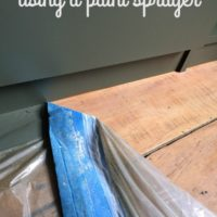 Built-Ins Makeover: Using a Paint Sprayer