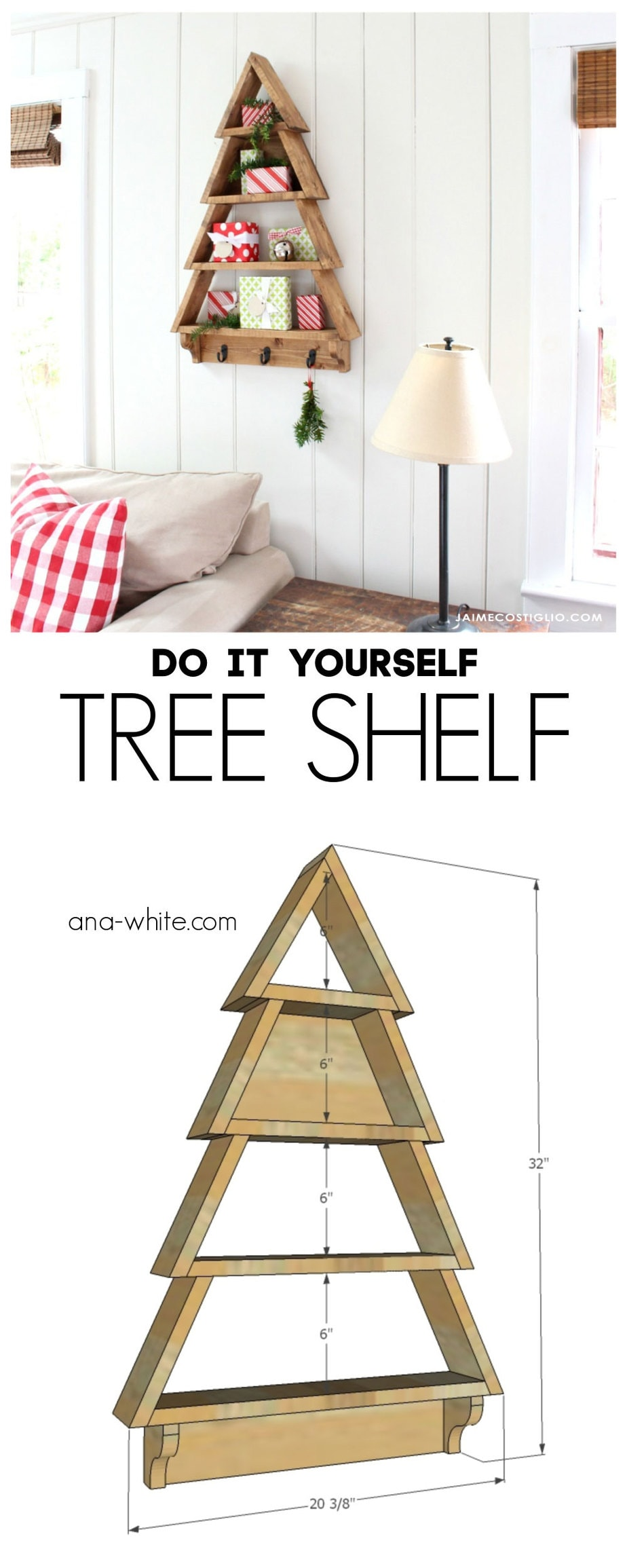 Diy Tree Shelf Jaime Costiglio