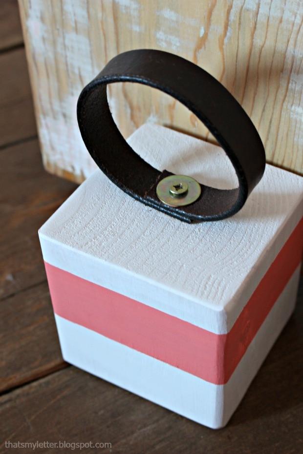 leather handle for wood door stop