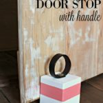 DIY Door Stop with Handle