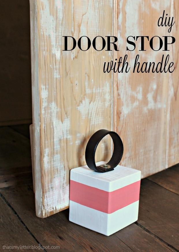 diy door stop with handle