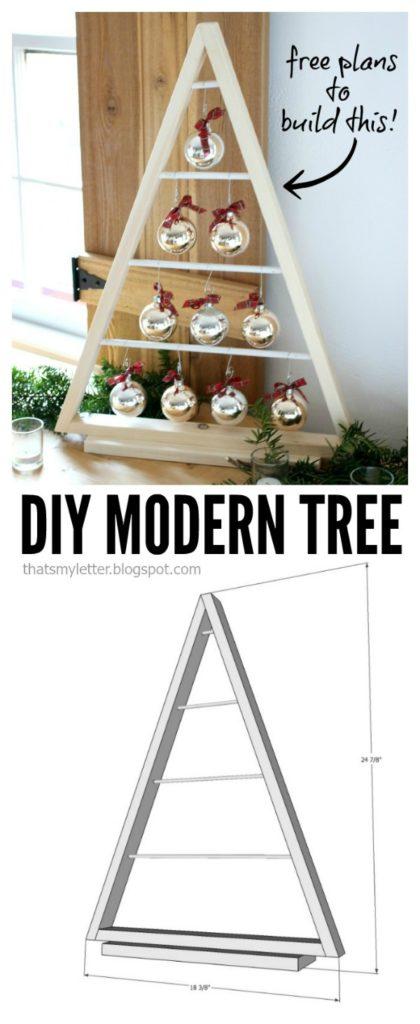 diy modern tree free plans