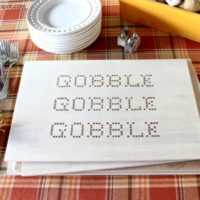 DIY Wood Gobble Placemats