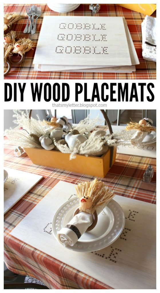 diy wood placemats for Thanksgiving