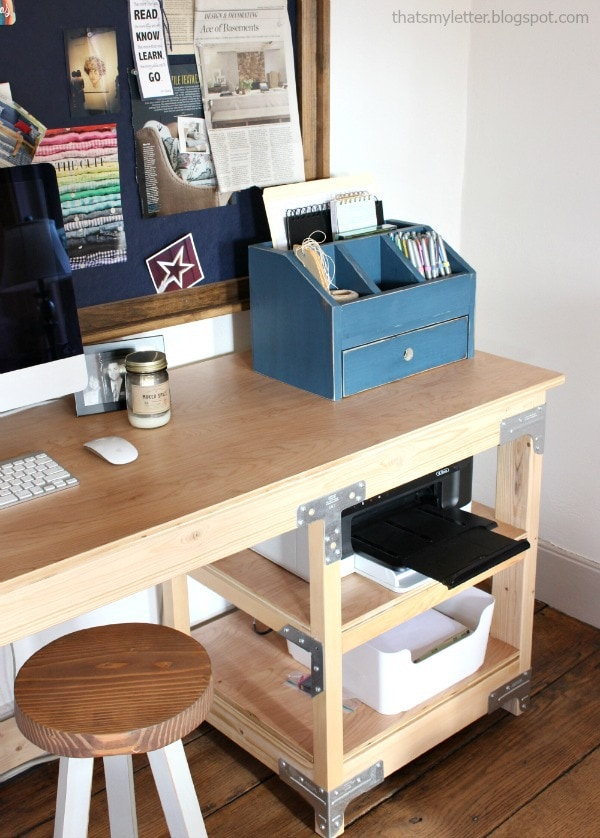 diy desktop organizer with drawer