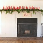 Deck the Halls Mantel: DIY Spindle Candle Holders