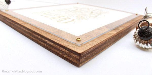 diy plywood frame with plexiglass and screws