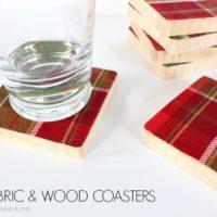 DIY Fabric & Wood Coasters