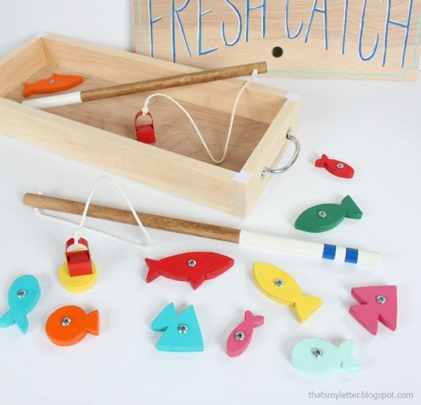 diy wood fishing game
