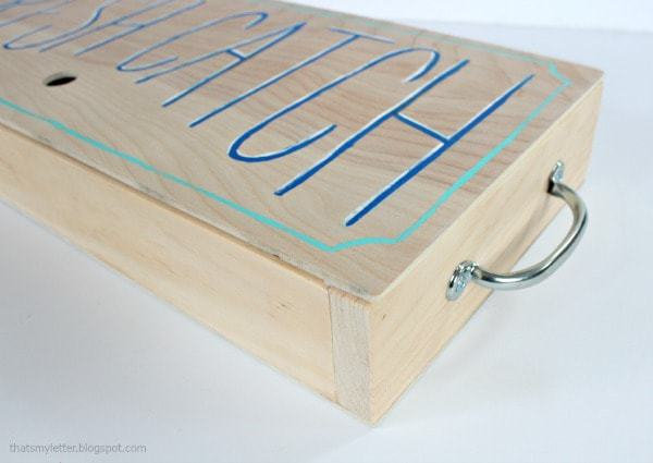 diy wood fishing game storage box with handles
