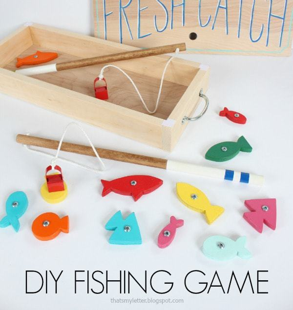 diy fishing game with storage