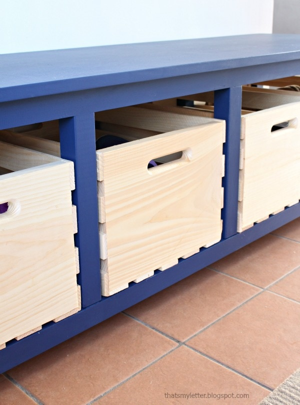 diy shoe storage bench free plans