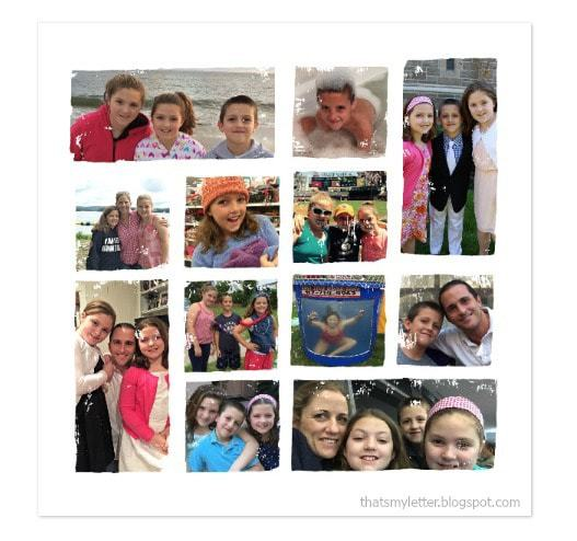 Minted collage photo art