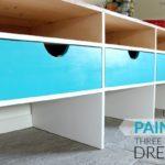 DIY Glossy Three Drawer Dresser