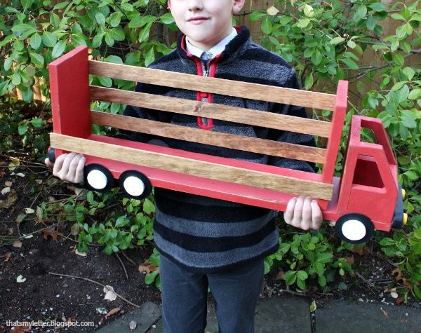 diy truck shelf for boy