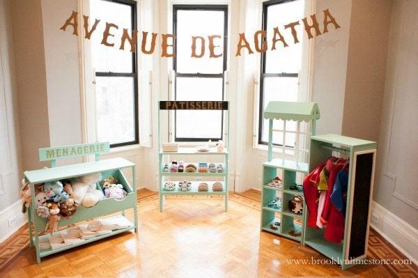 kids Paris theme party decor