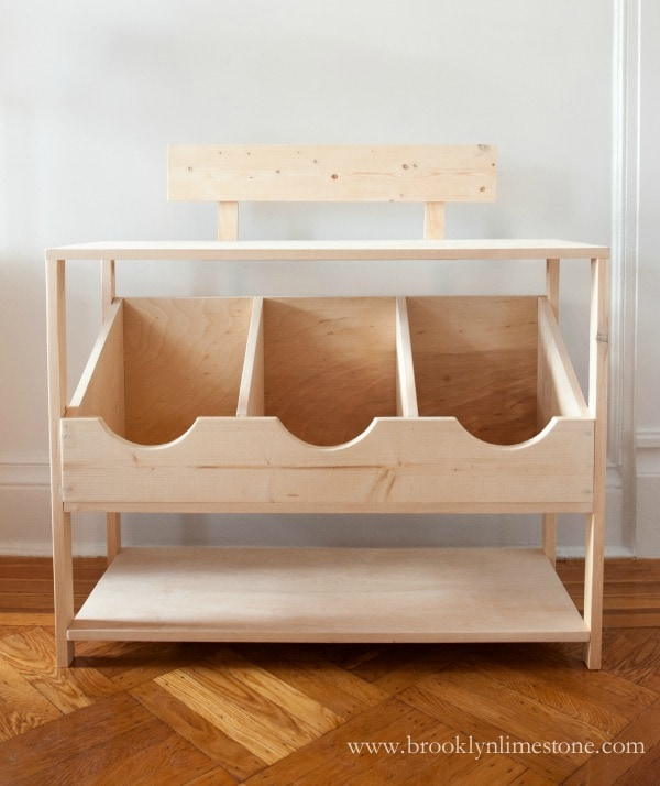 diy kids playstand menagerie natural wood