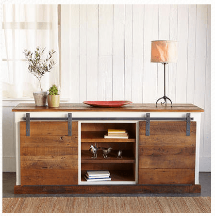 Sundance catalog sliding door console inspiration