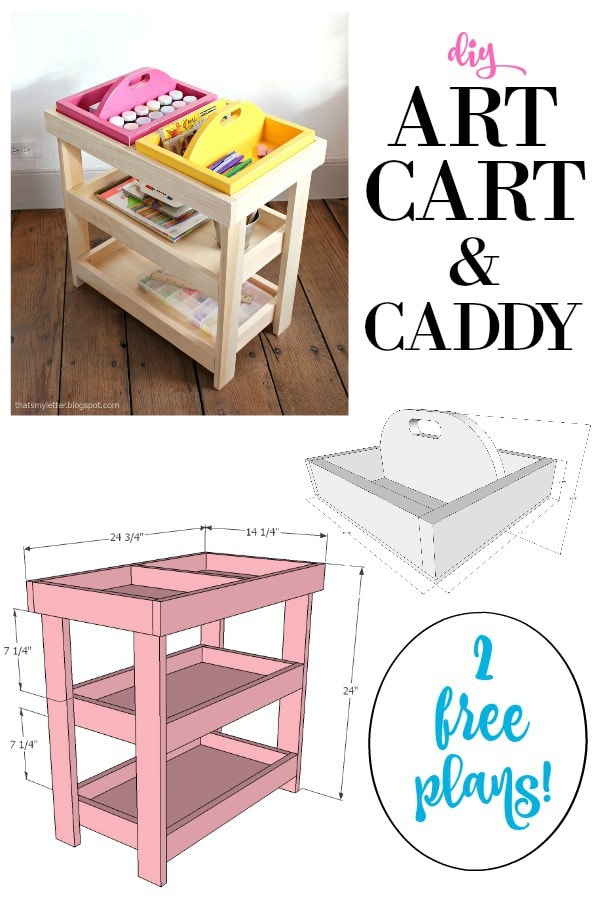 diy art cart and caddy free plans