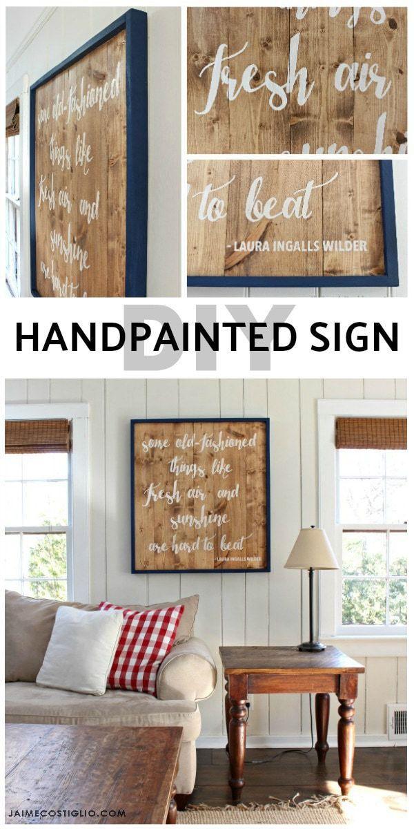 diy handpainted sign tutorial