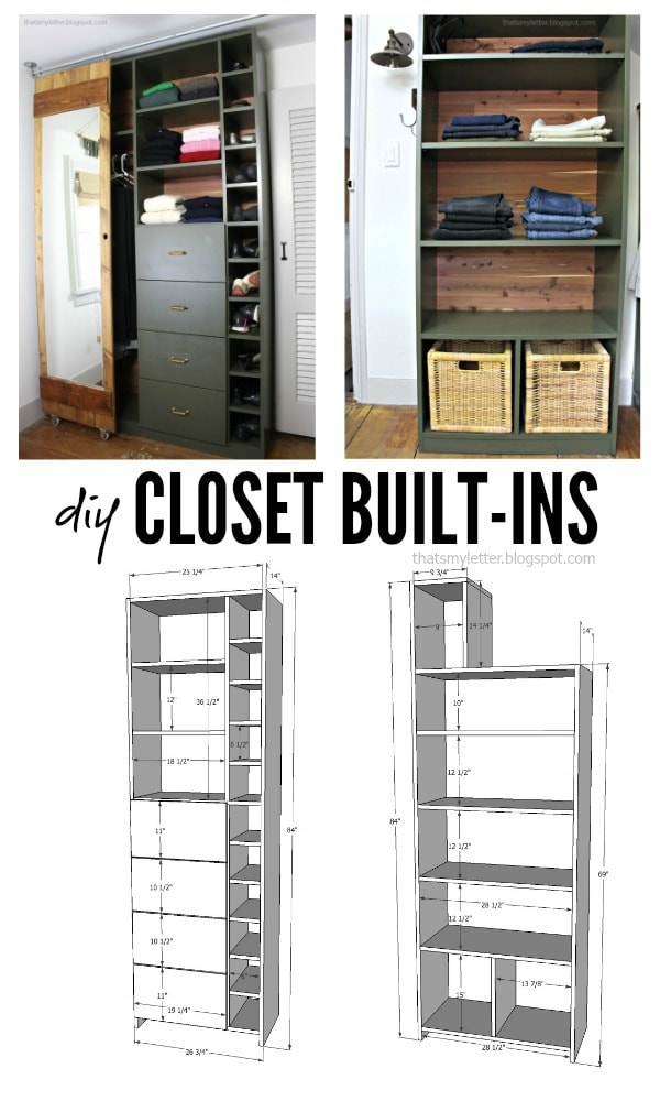 Charmant Walk In Closet Makeover With Built Ins Free Plans