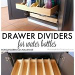 DIY Pull Out Drawer Dividers for Water Bottles