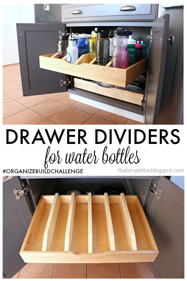 diy drawer dividers for pull out cabinet drawer