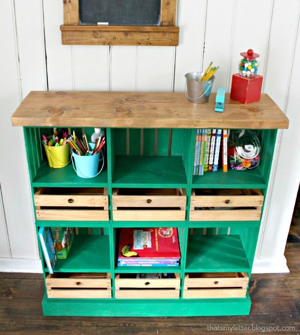 diy locker style crate cubbies free plans
