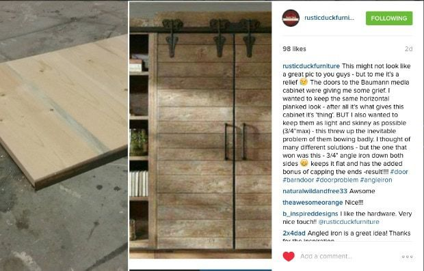 planked door ar Rustic Duck Furniture on Instagram
