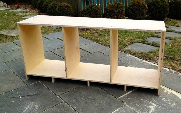 diy barn door console carcass
