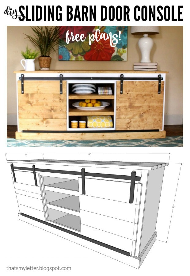 Diy Sliding Barn Door Console Free Plans Jaime Costiglio