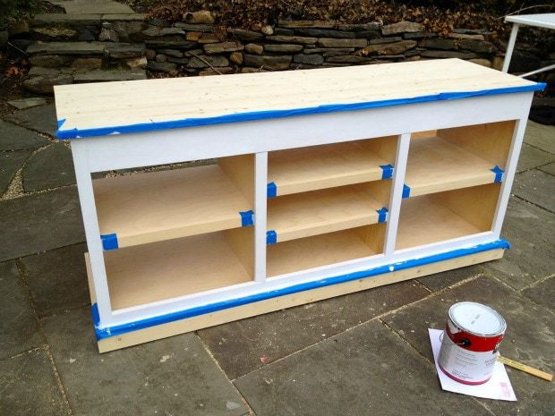 painting console face frame white
