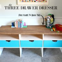Three Drawer Dresser Plans