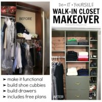 Walk-In Closet Makeover (plus built-in plans)
