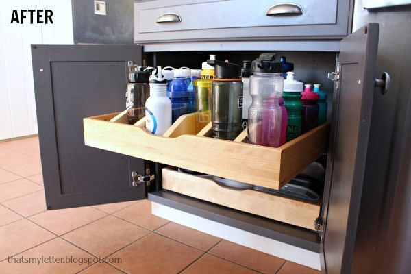 diy drawer dividers for water bottles