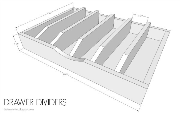 diy drawer dividers free plans