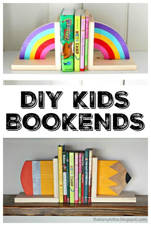 diy kids bookends