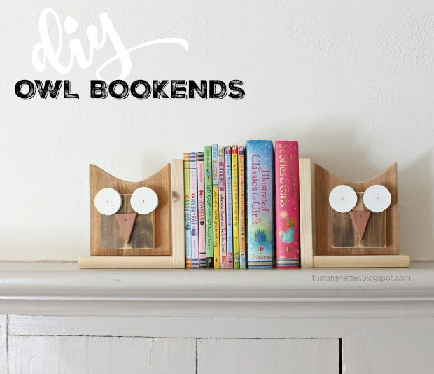 diy wood owl bookends
