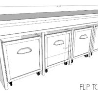 DIY Flip Top Bench Free Plans
