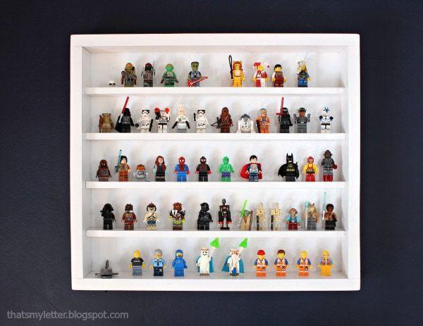 diy lego minifig shelf