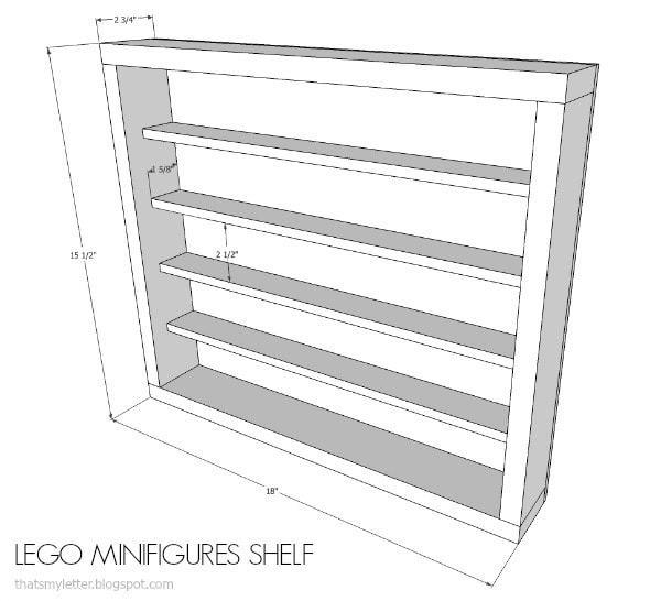 lego minifig shelf free plans