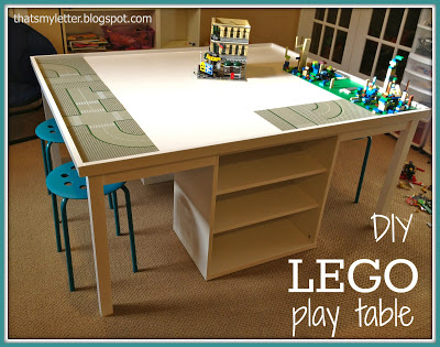 diy lego play table plus Ikea parts
