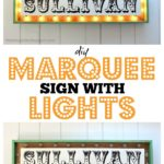 DIY Marquee Sign with Lights