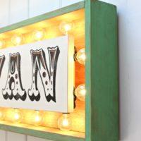 DIY backlit marquee sign