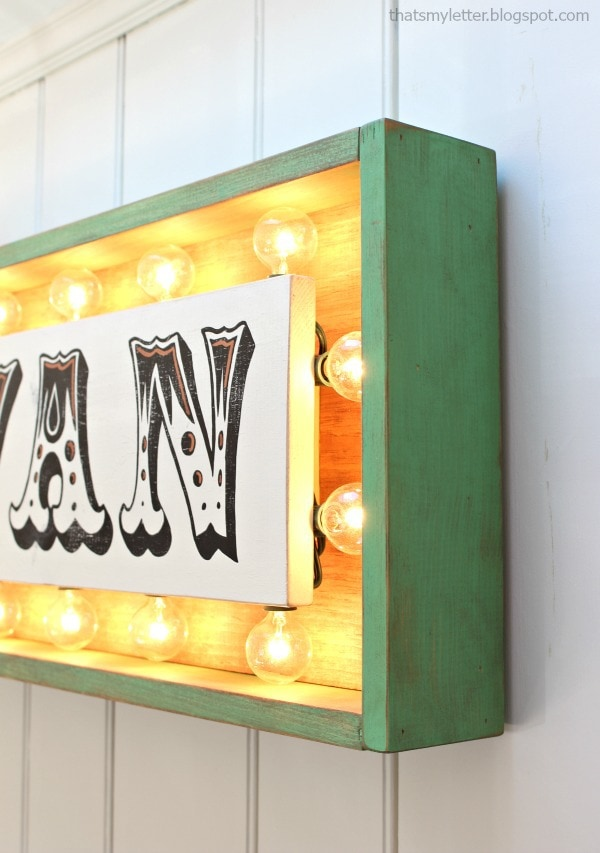 marquee sign frame detail