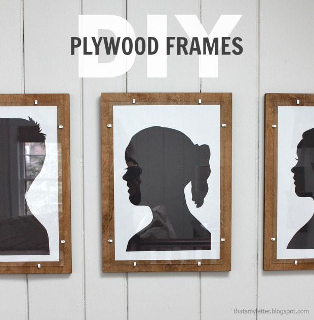 diy plywood frame any size with glass