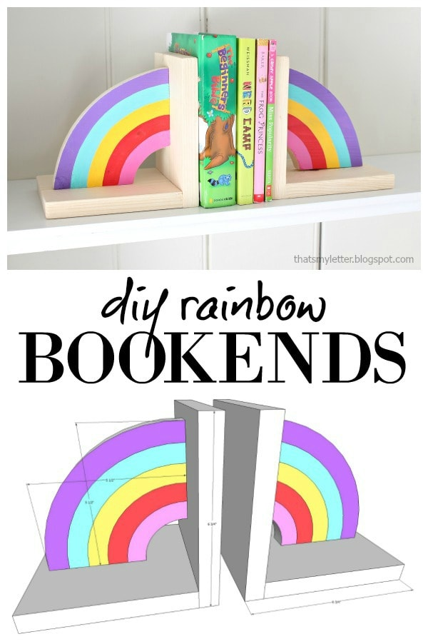 diy rainbow bookends free plans