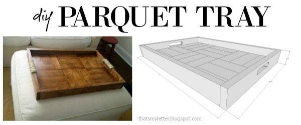 diy parquet pattern tray free plans