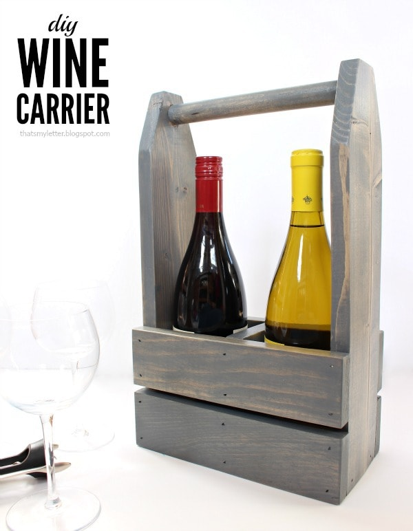 diy wine carrier with free plans