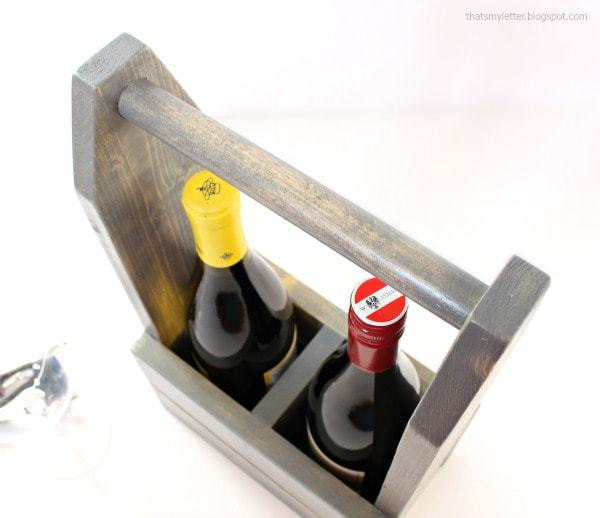 diy wood wine carrier
